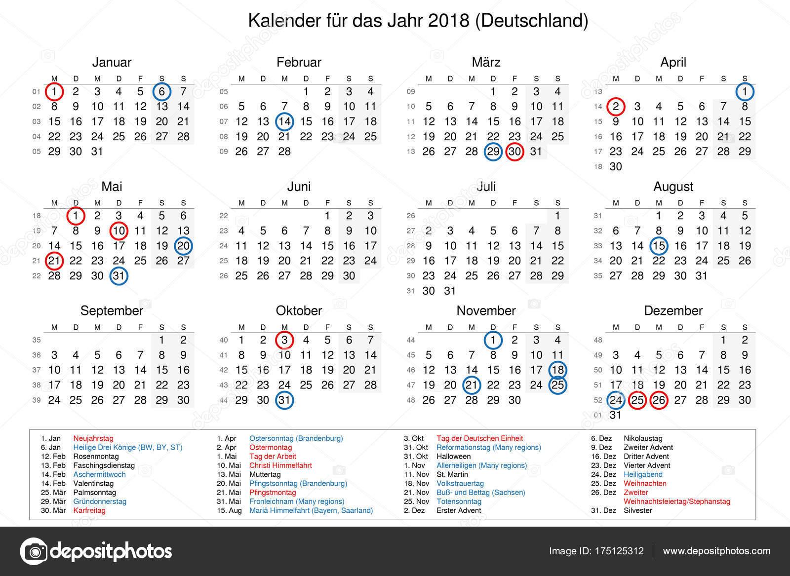 depositphotos stock photo calendar of year 2018 with