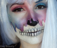 Halloween Schminke Elegant Galaxy Skull Halloween Look Adjusting Beauty