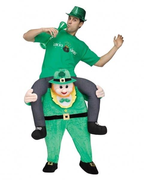 st patricks day reiter carry me kosta¼m leprechaun costume