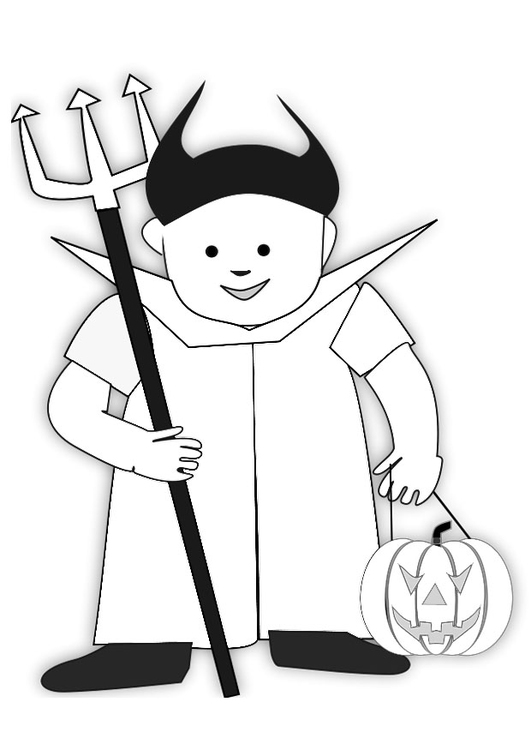 malvorlage halloween kostuem i
