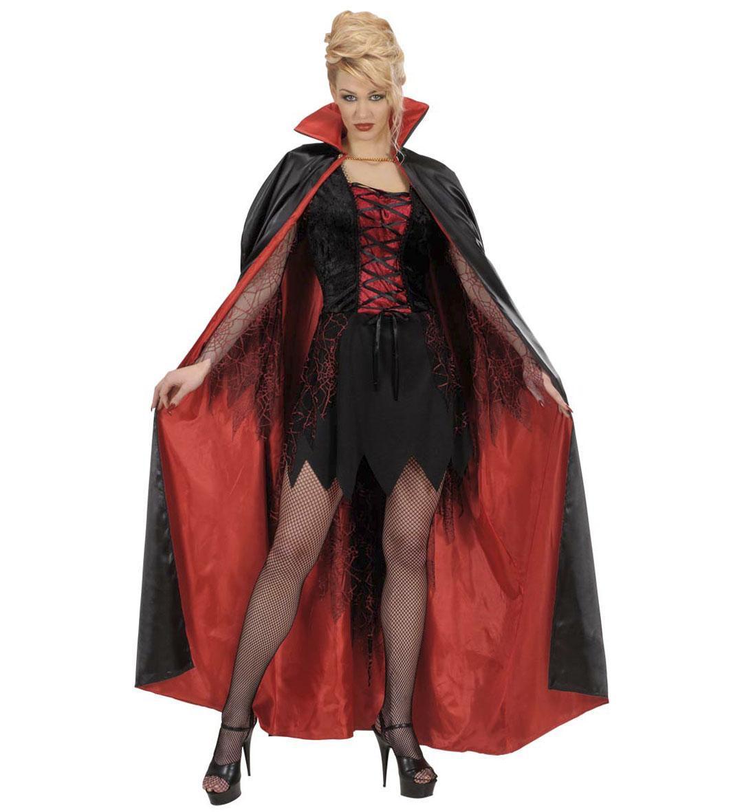 Karneval Halloween Uni Cape schwarz rot 7150B a