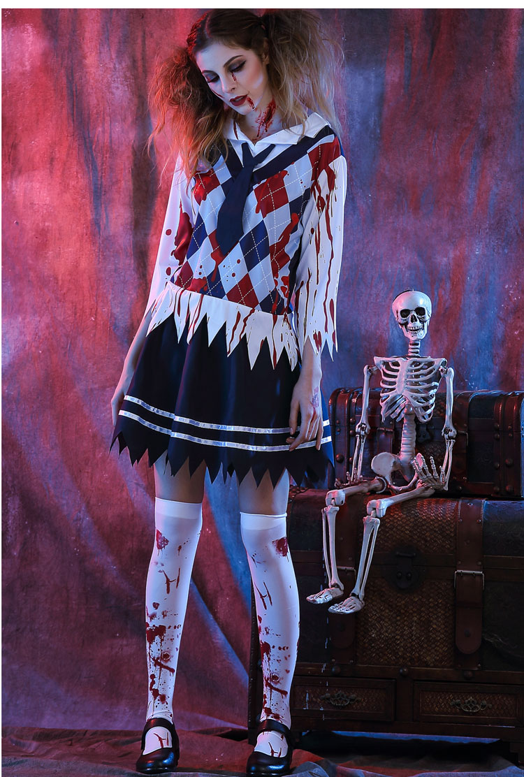 High School Horror Zombie Girl Costume Mummy costumes Female Ghost Vampir Masquerade Death Witch Costume For