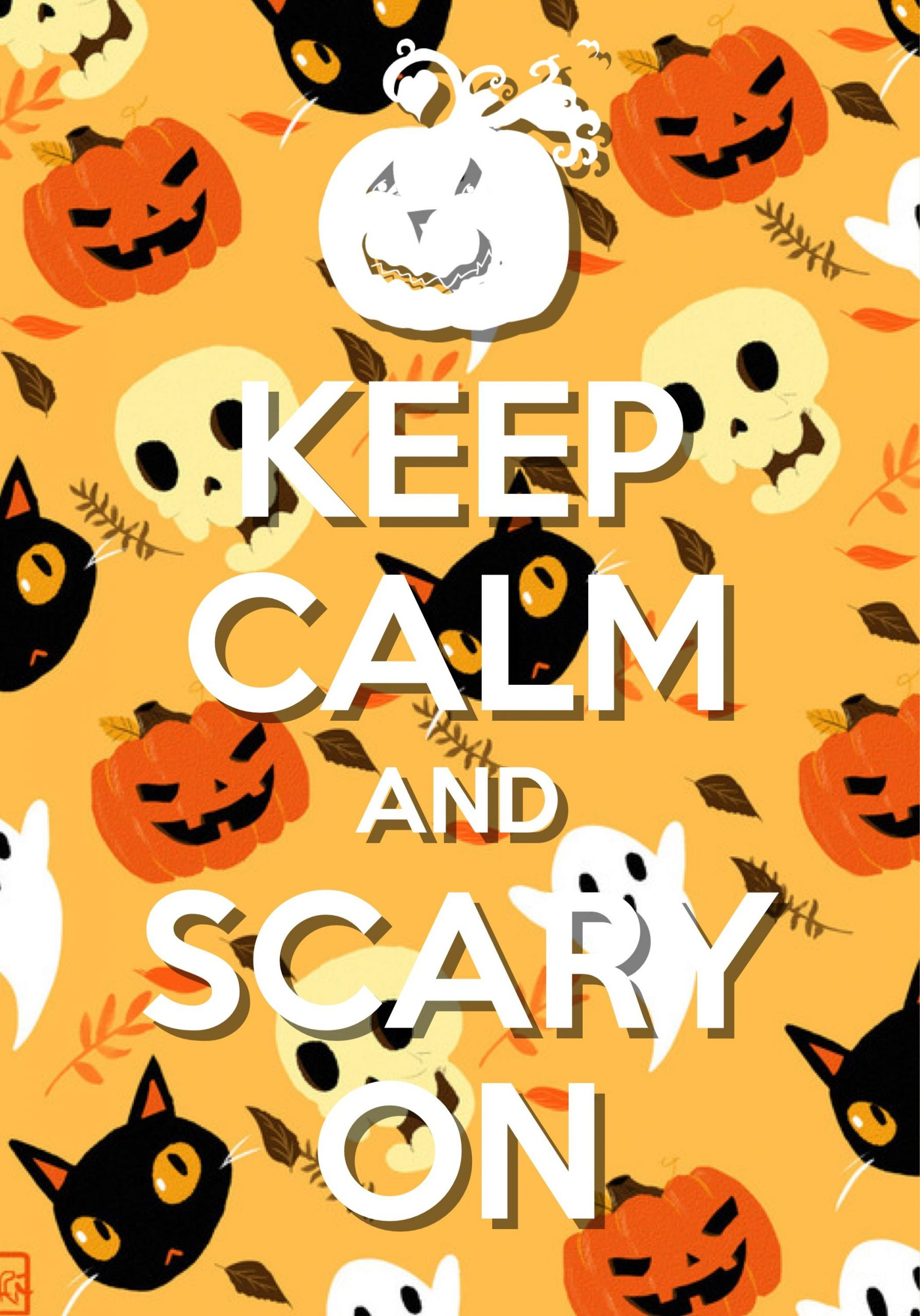 Halloween Wanddeko Frisch Keep Calm and Scary On Created with Keep Calm and Carry