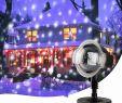Haus Dekoration Frisch Светодиодный прожектор дРя снегопада в рождественском стиРе