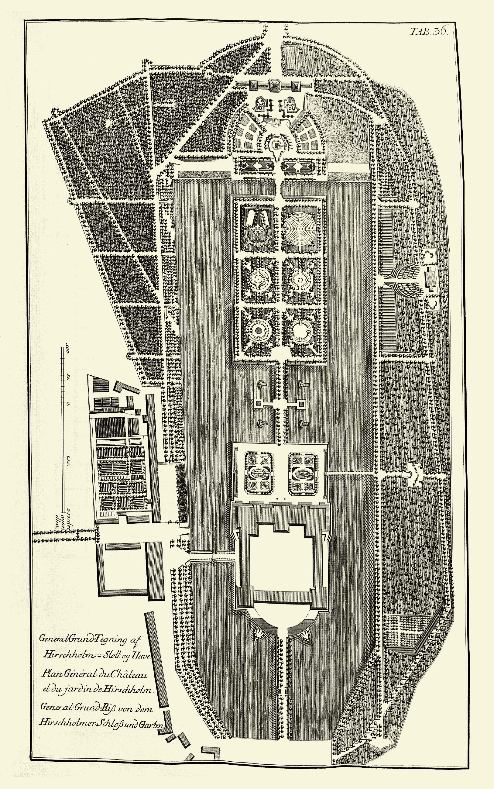 Hirschholm Slot og Have 1749 Laurids de Thurah