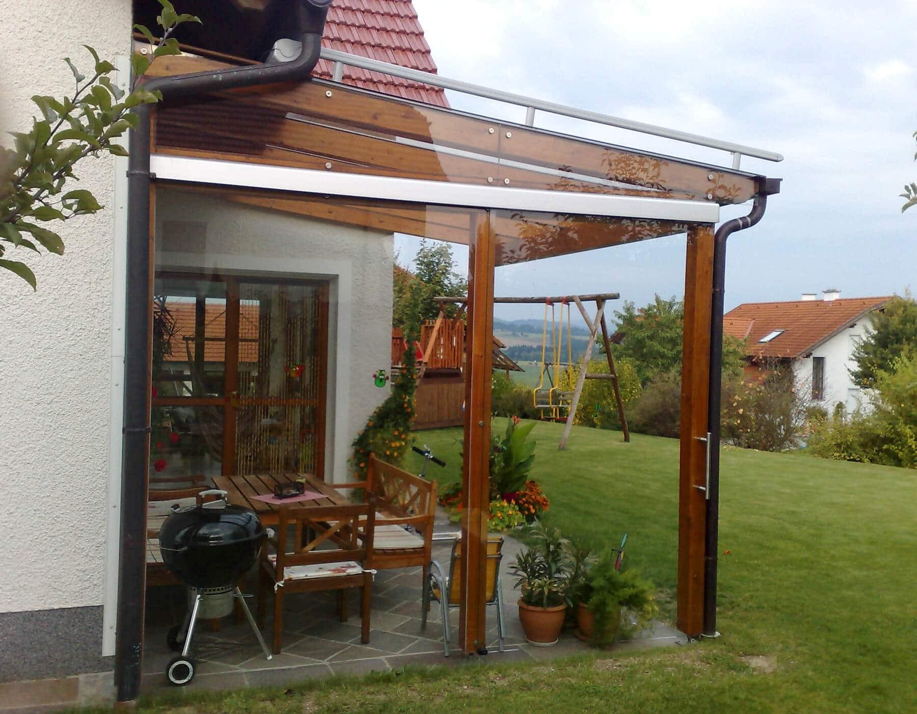 dachterrasse mit einer glasuberdachung und windschutz aus glas glasuberdachung terrasse of glasuberdachung terrasse 1