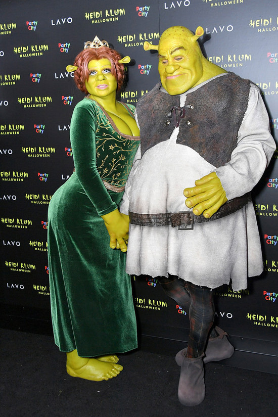 heidi klums shrek inspired halloween costume
