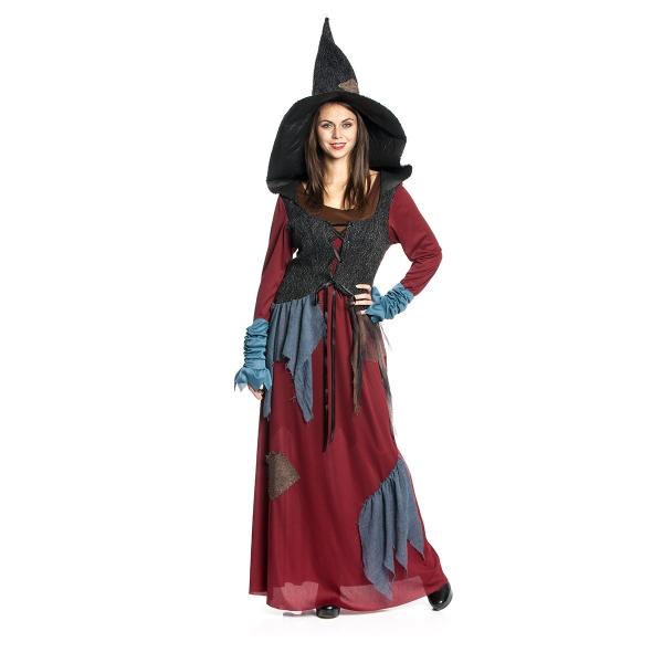 Hexen Kostuem Lya Damen Halloween Hexenkostuem Damen