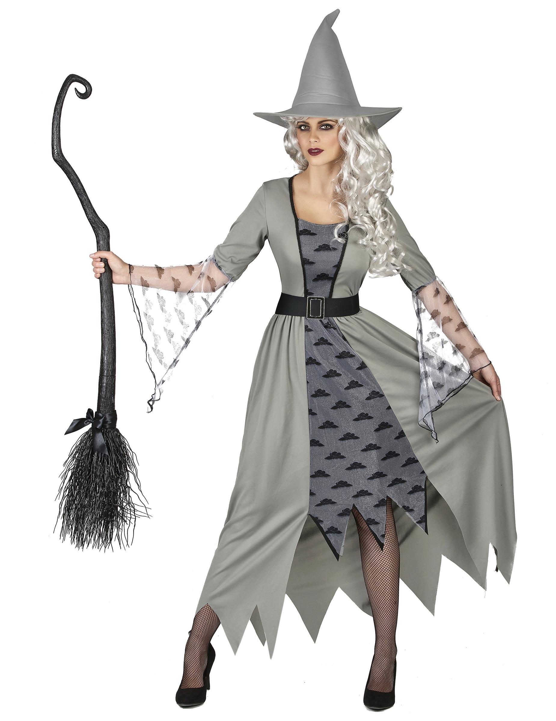 p hexen kostum grau fur damen