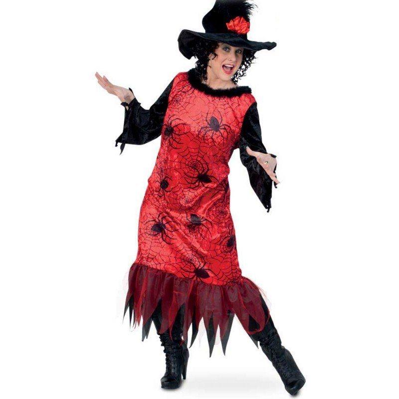 red spider hexen kostuem fuer starke damen