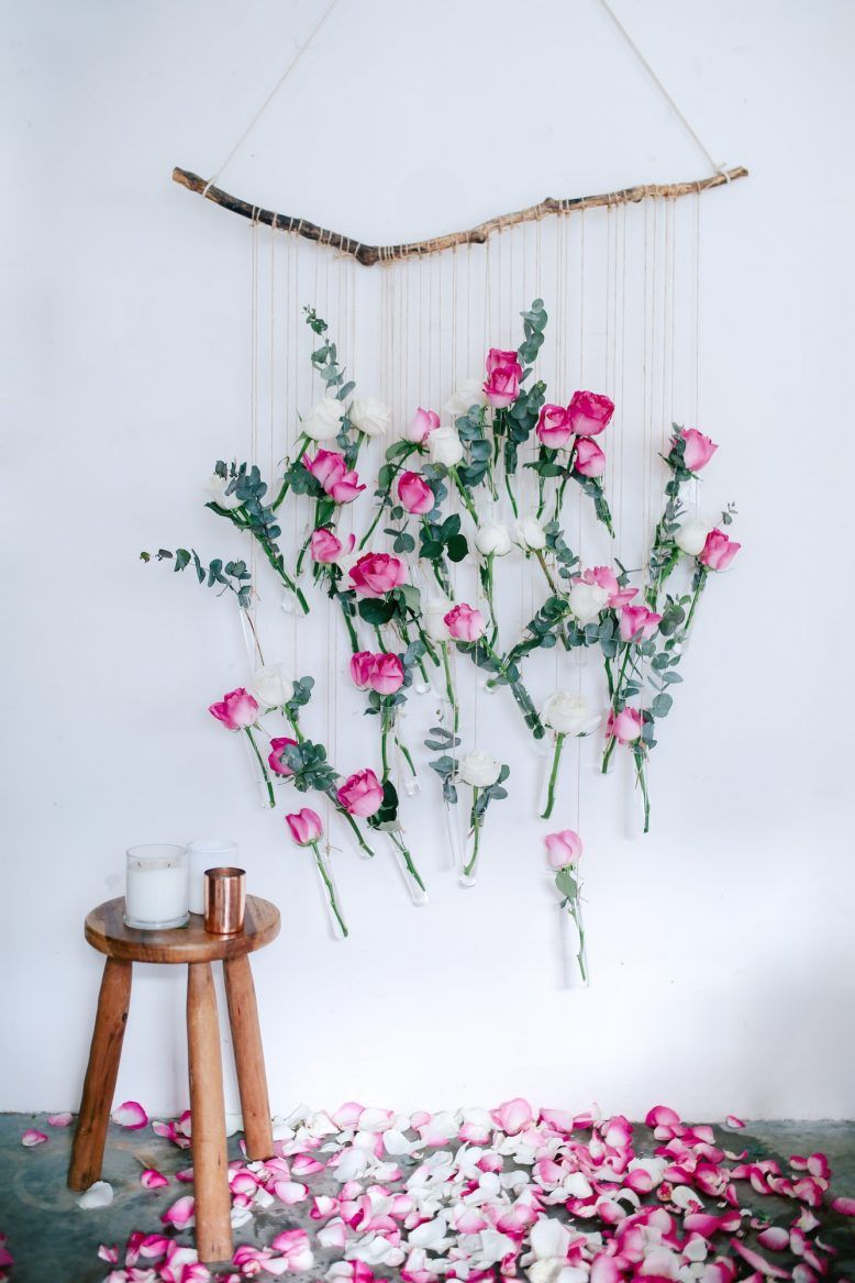 Hochzeitsdeko Ideen Garten Genial Diy Floral Vase Wall Hanging