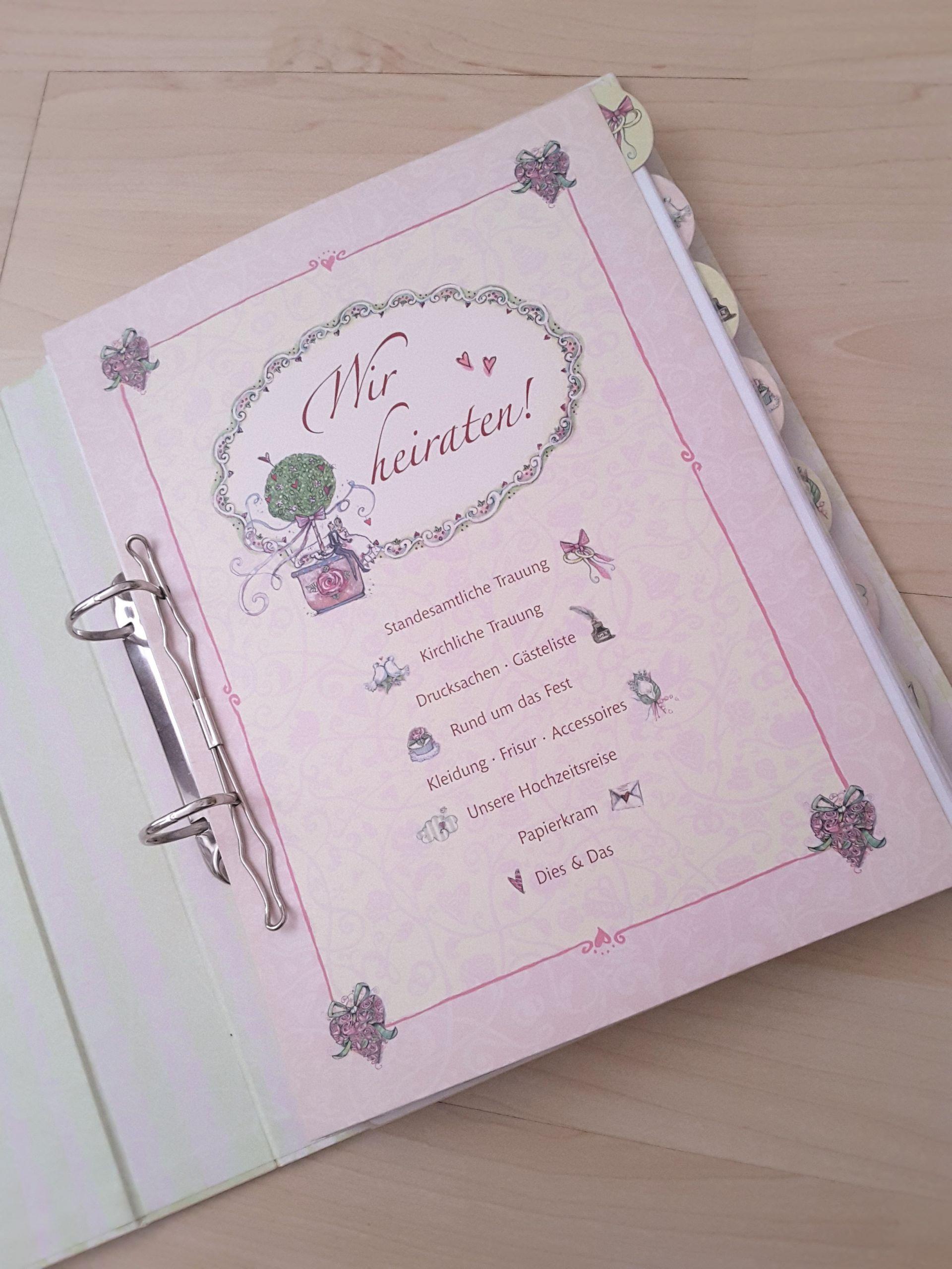 Hochzeitsordner Coppenrath Verlag alt