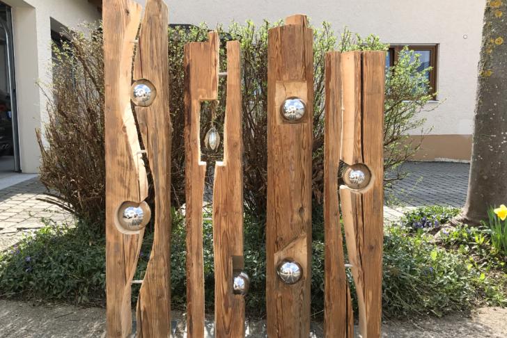 Holz Deko Selber Machen Schön Altholzbalken Mit Silberkugel Modell 8 Holz