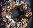 Holzblumen Deko Schön Pink Pine Cone Wreath Favland