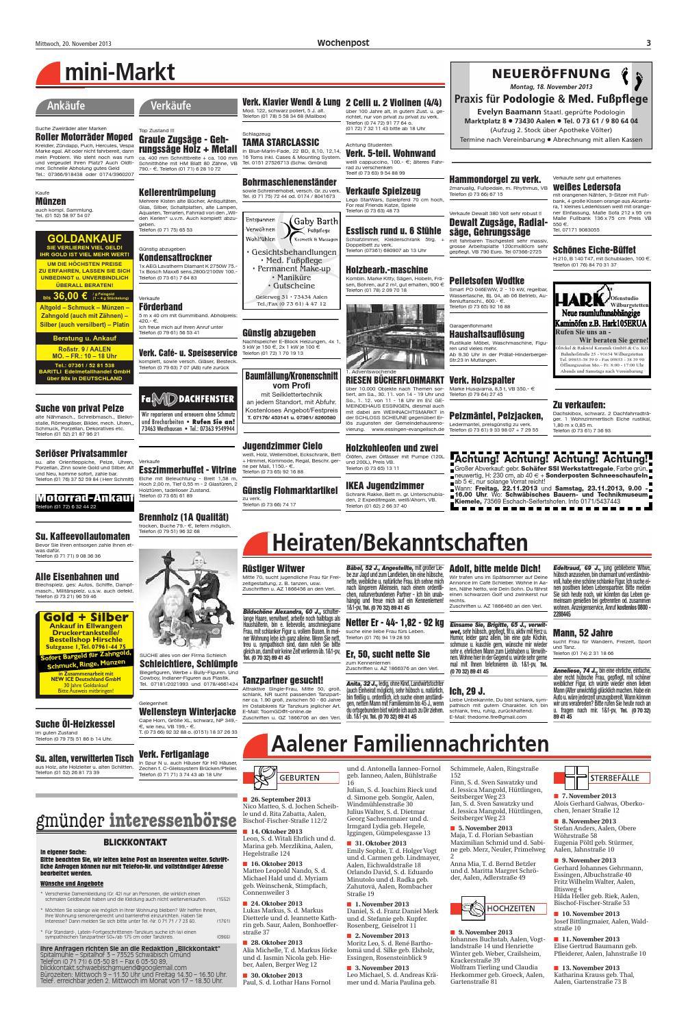 Holzleiter Alt Best Of Die Wochenpost Aalen Kw 47 by Media Service Ostalb Gmbh