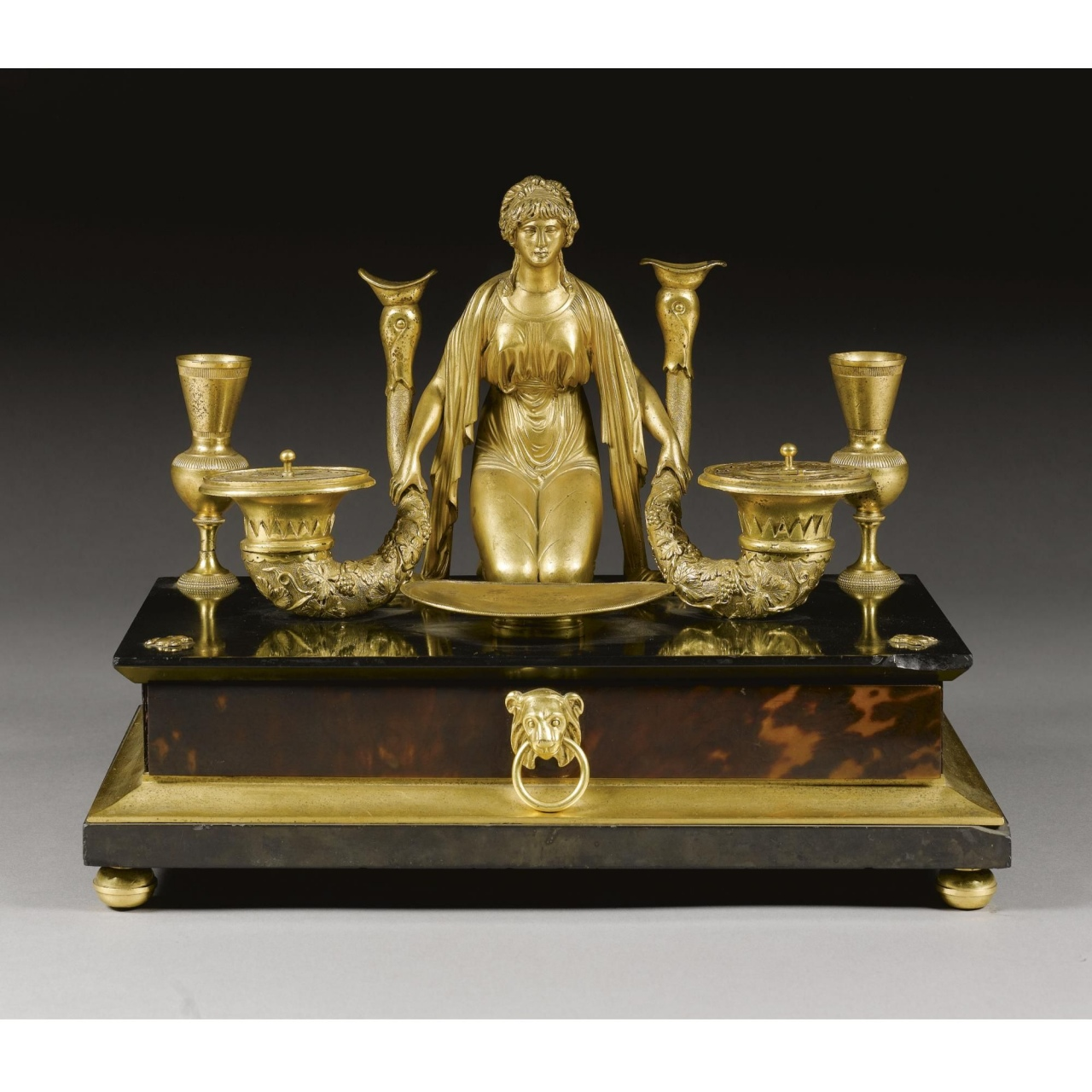antique brass sculptures a regency gilt bronze slate and tortoiseshell veneered inkstand of antique brass sculptures