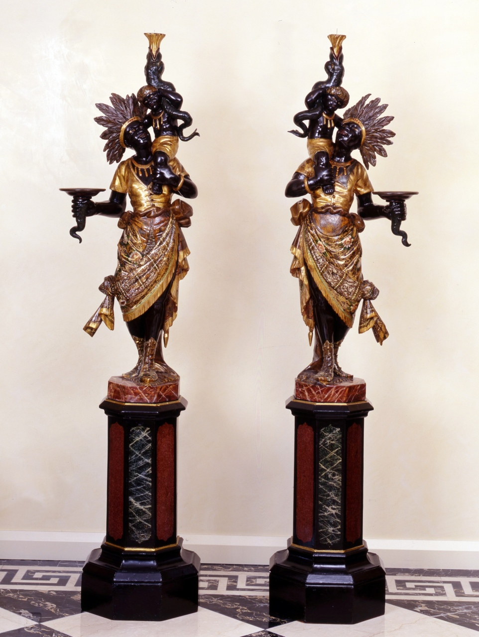 antique brass sculptures unknown a pair of north italian blackamoors north italy date of antique brass sculptures