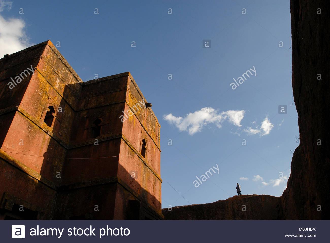 ethiopia amhara region lalibela monolith rock churches built by king M88HBX