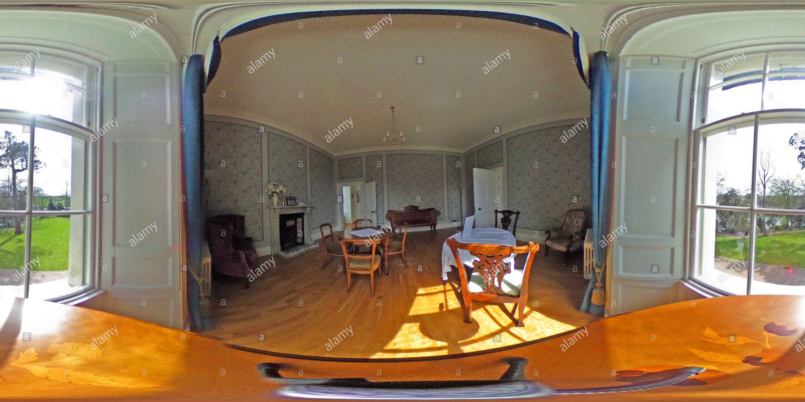 room interior of cardigan castle castell aberteifi cardigan ceredigion wales R2H6A1