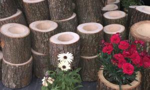 30 Schön Holzstamm Deko Garten