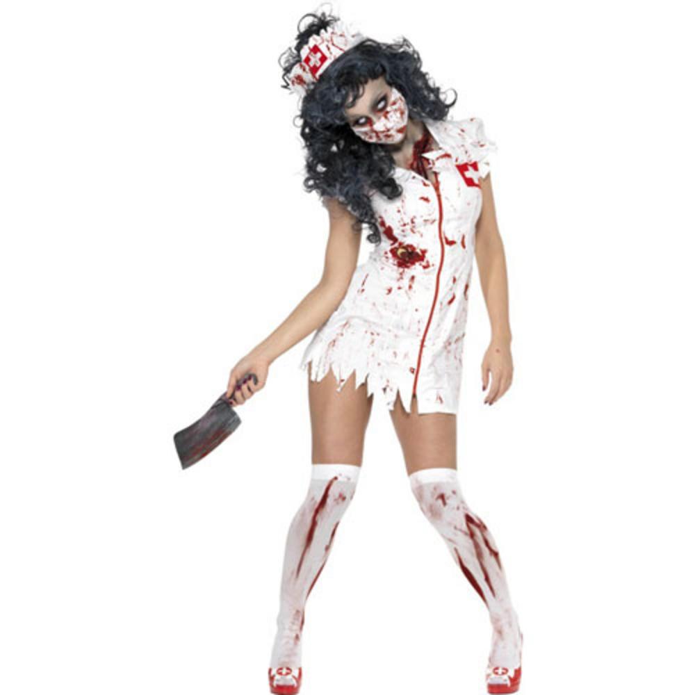 smi zombie nurse fancy dress halloween horror costume