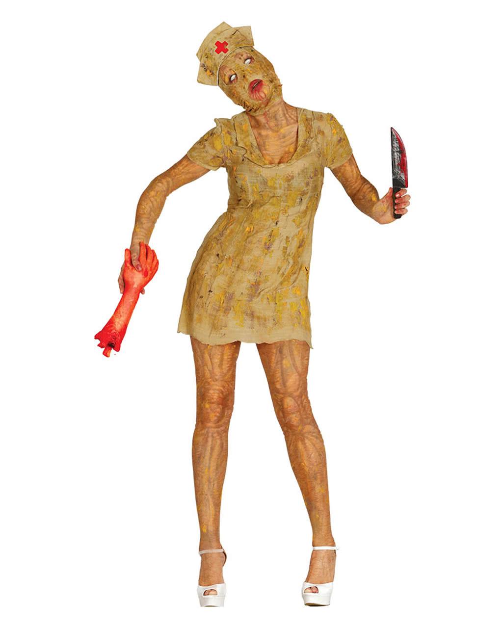 silent mountain zombie nurse kostuem halloween kostuem horror verkleidung zombie krankenschwester