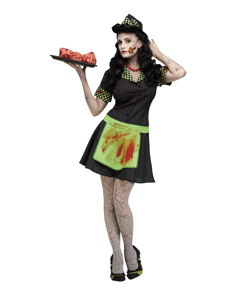 Horror Verkleidung Inspirierend 50er Jahre Zombie Kellnerin Kostüm
