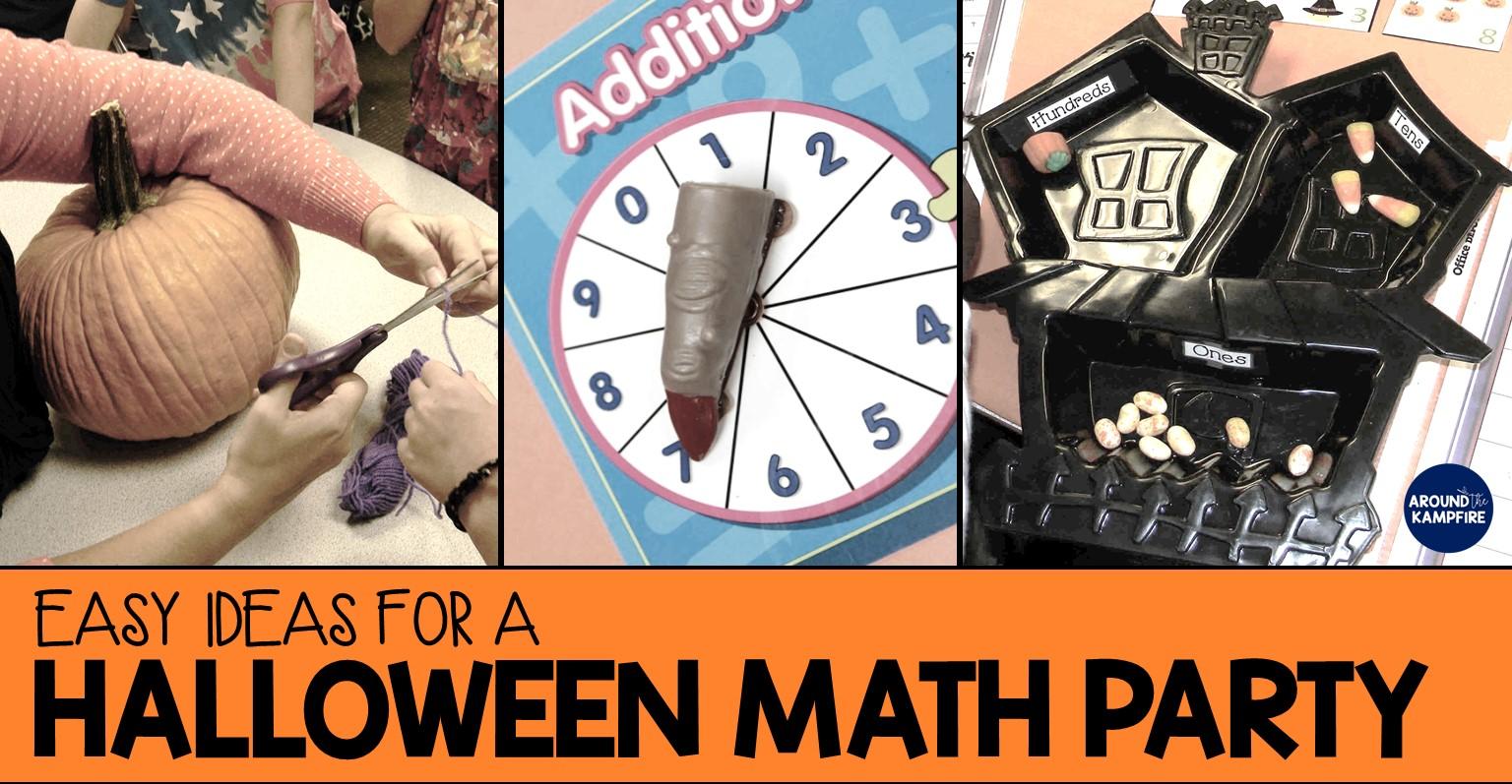 Easy ideas Halloween math party AroundtheKampfire 1a