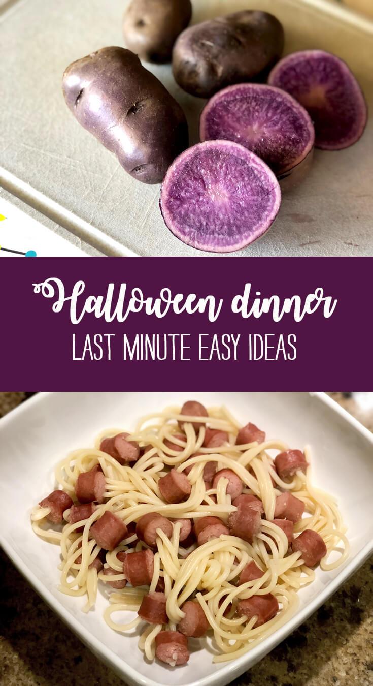 Last minute halloween dinner ideas halfpintpartydesign party food