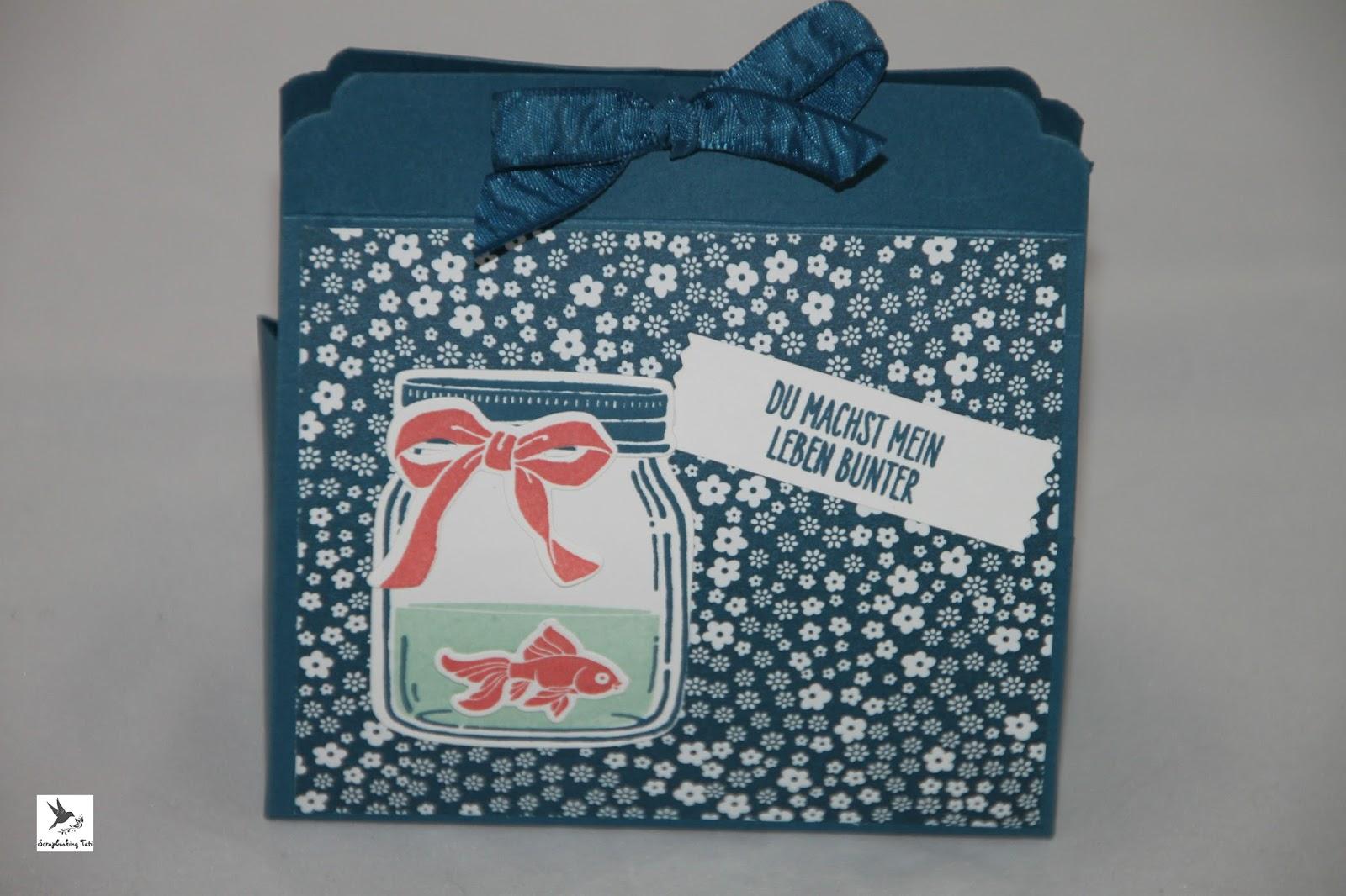 Stamping up Glasklare Grüße Ideen Verpackungen kleine Taschen jeanslbau