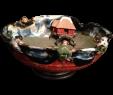 Japanische Gartendeko Elegant Japanese Antique Red 墨田区 Sumida Pottery Bowl with