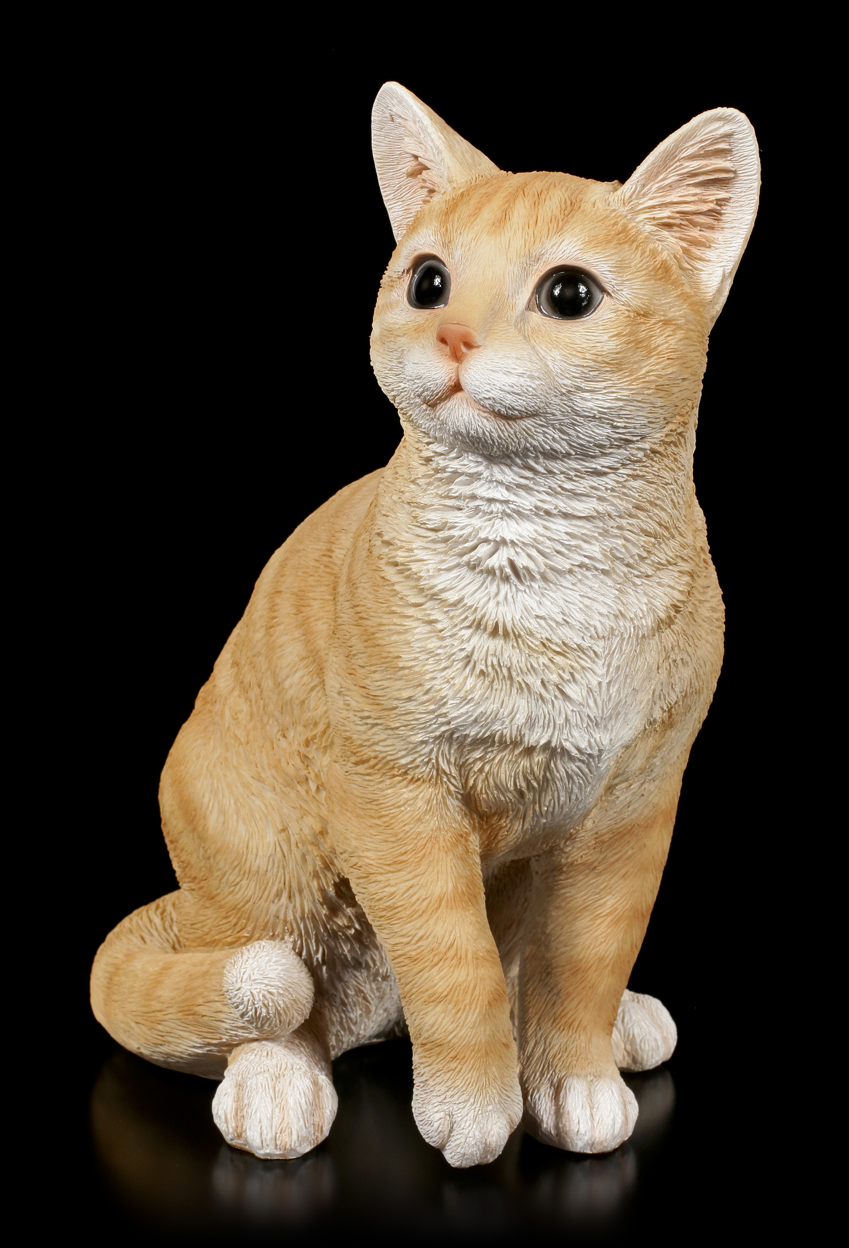 Katzen Figur Orange Tabby
