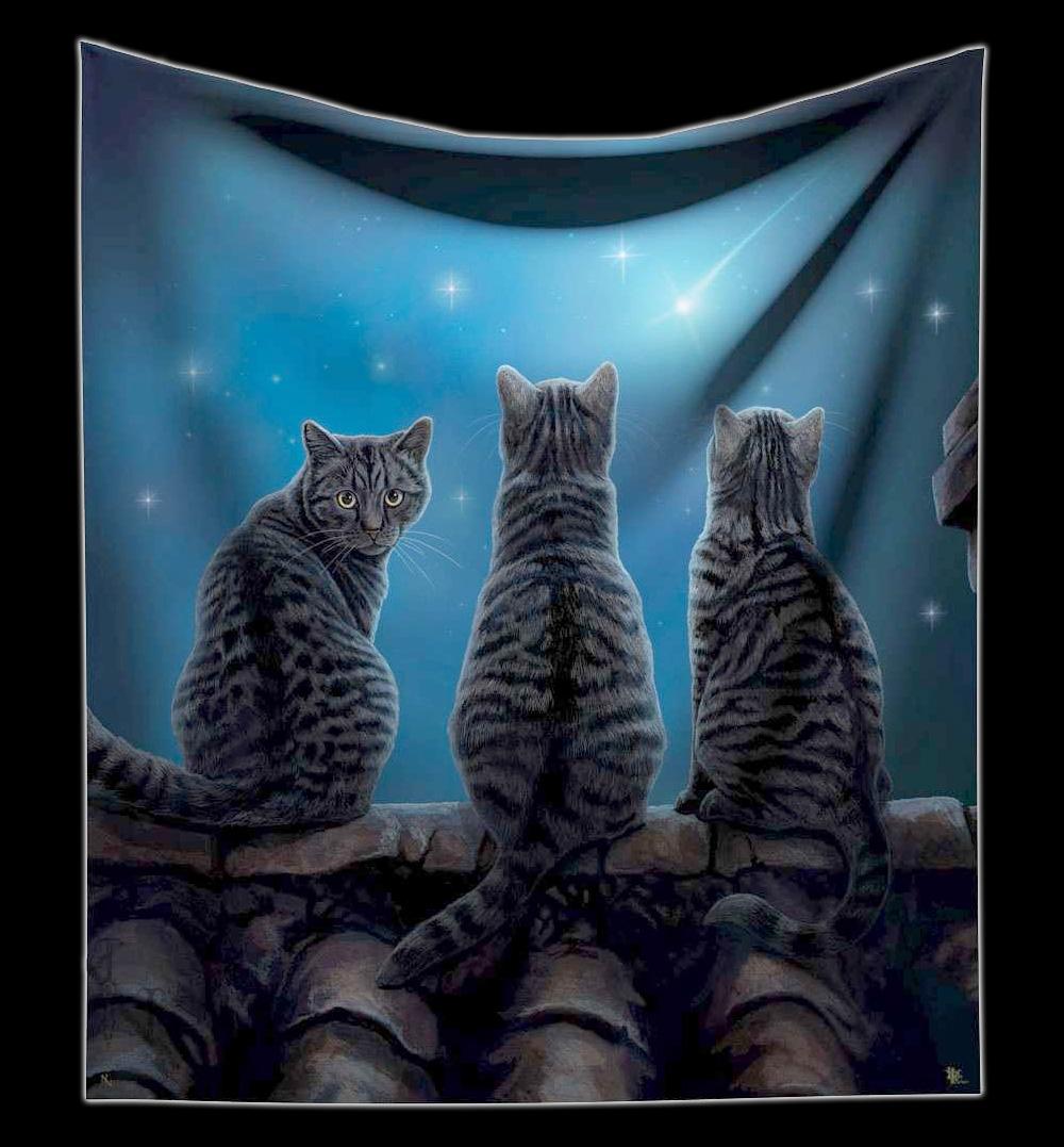 Kuscheldecke Katzen Wish Upon a Star Lisa Parker