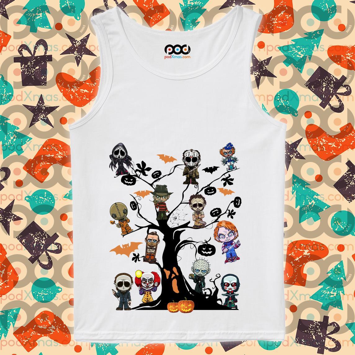 horror characters halloween treeTank top