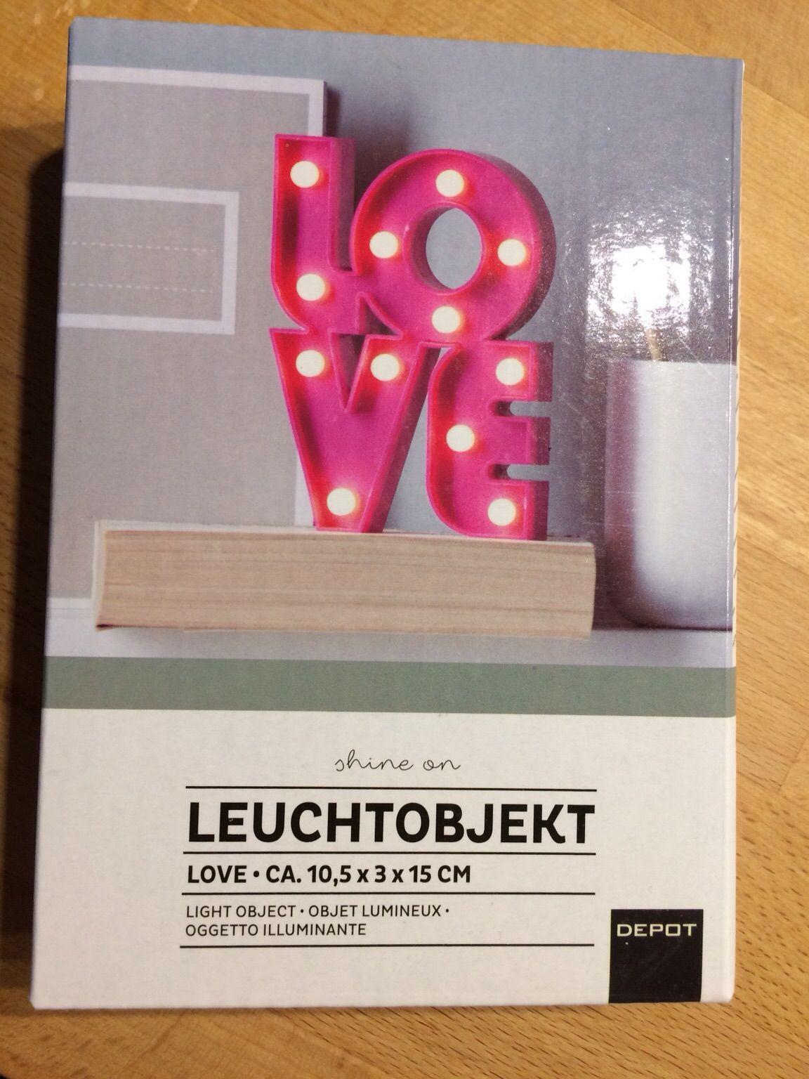 Leuchtobjekt Love
