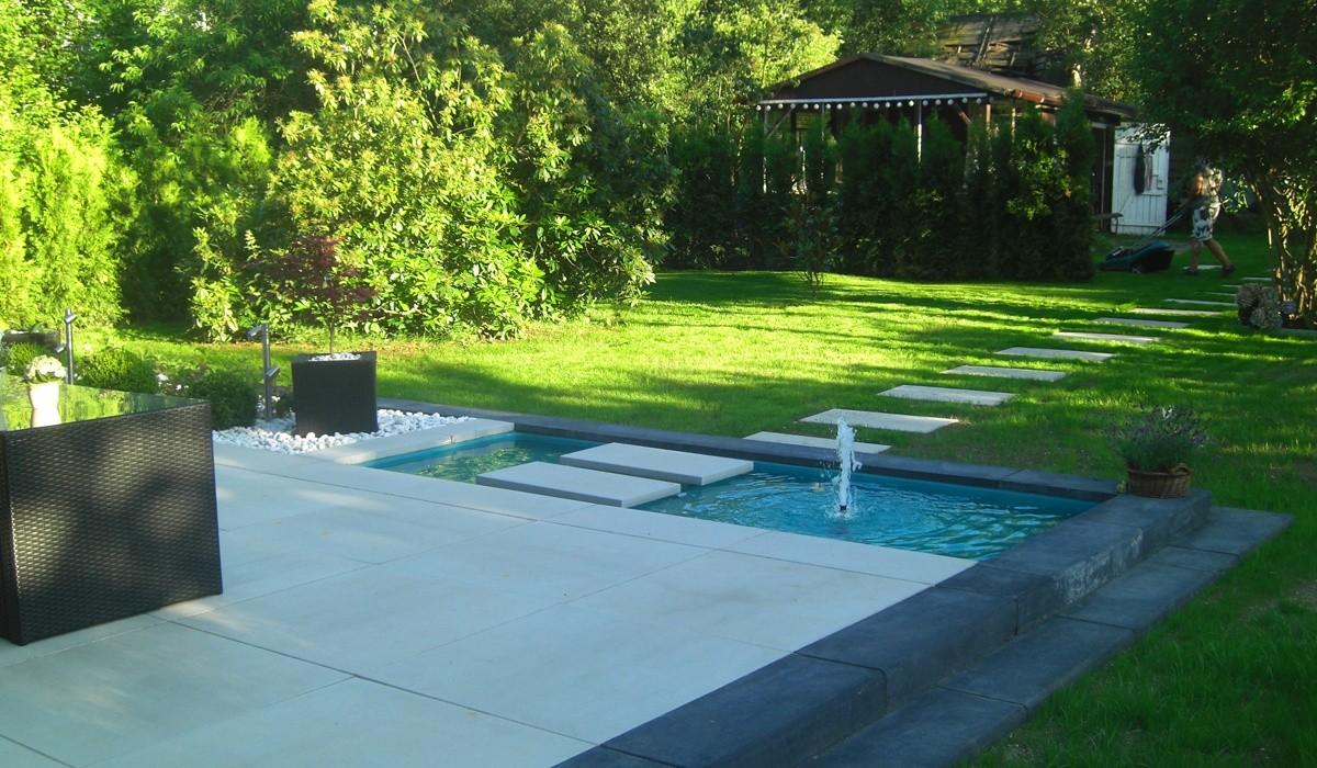 Kleinen Garten Modern Gestalten Neu Wasserbecken Terrasse