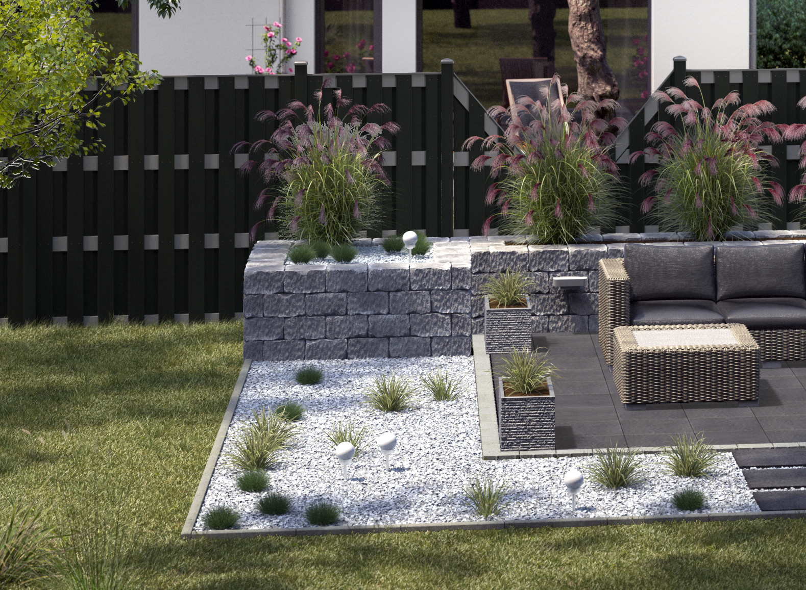 Gartengestaltung Sitzplatz modern DE 1