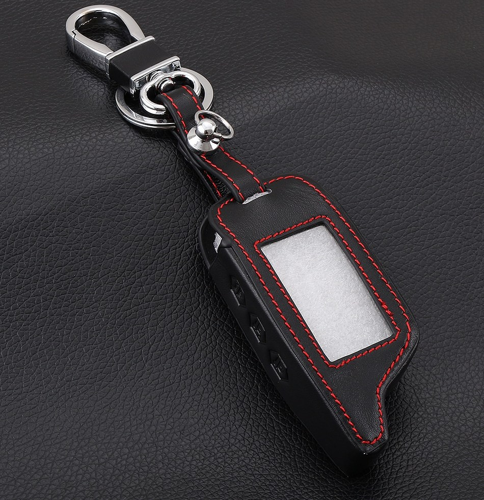 3 Buttons Leather Car Styling Key Cover font b Case b font For Starline B9 B6
