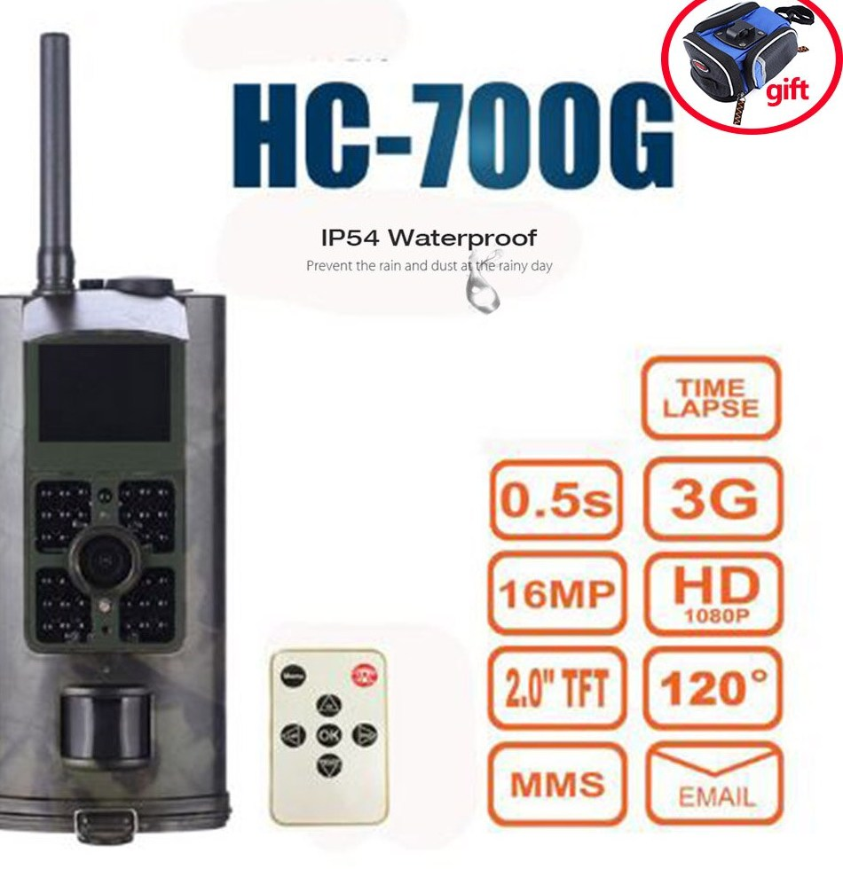 Outlife HC700G 16MP Trap Camera Infrared Night Vision Hunting Camera 3G SMS font b MMS b