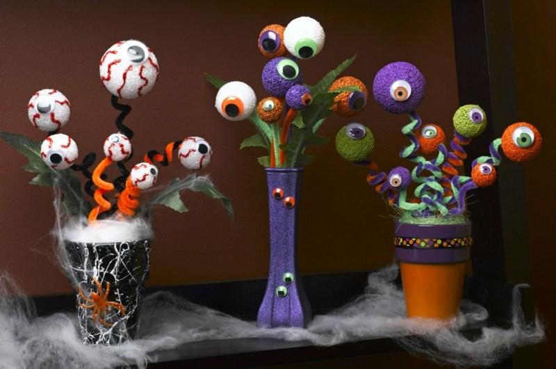 gruselige halloween deko basteln