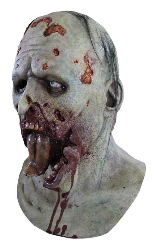 splatter gesicht zombie maske