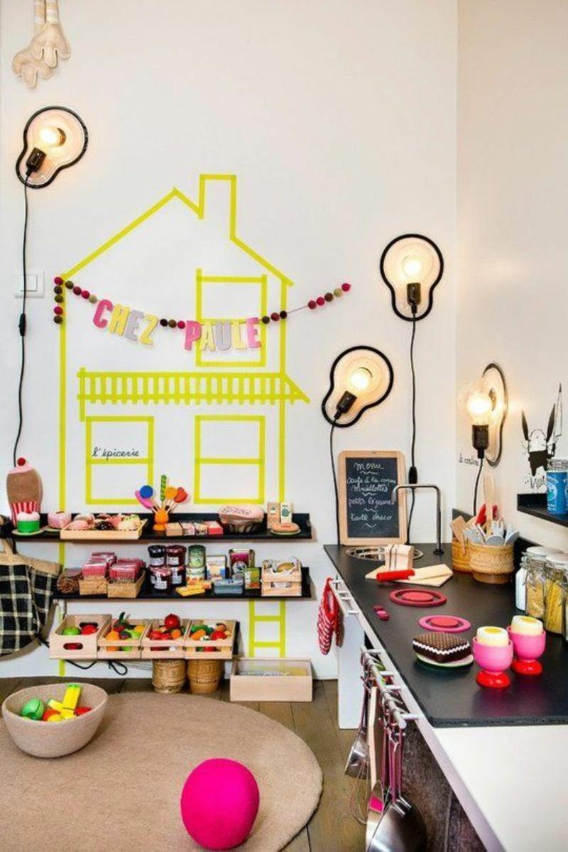 Ideen für kreative Wandgestaltung Küche Kinderzimmer Deko
