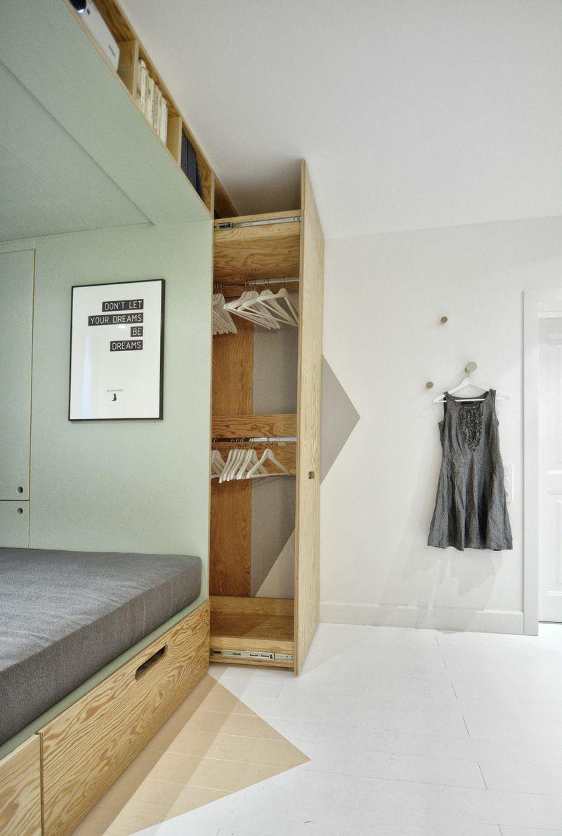 Kreative Wohnideen Selbst Gemacht Schön Praktische Wohnidee Mit Ausziehbarem Kleiderschrank