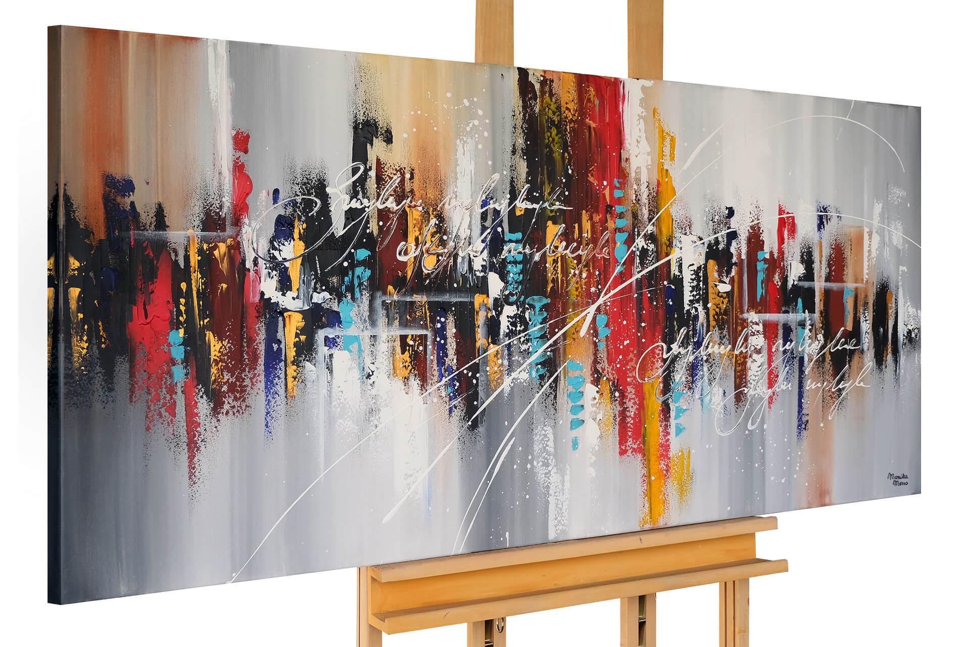 kl abstrakt linien bunt grau acryl gemaelde acryl bilder leinwandbilder moderne kunst 01