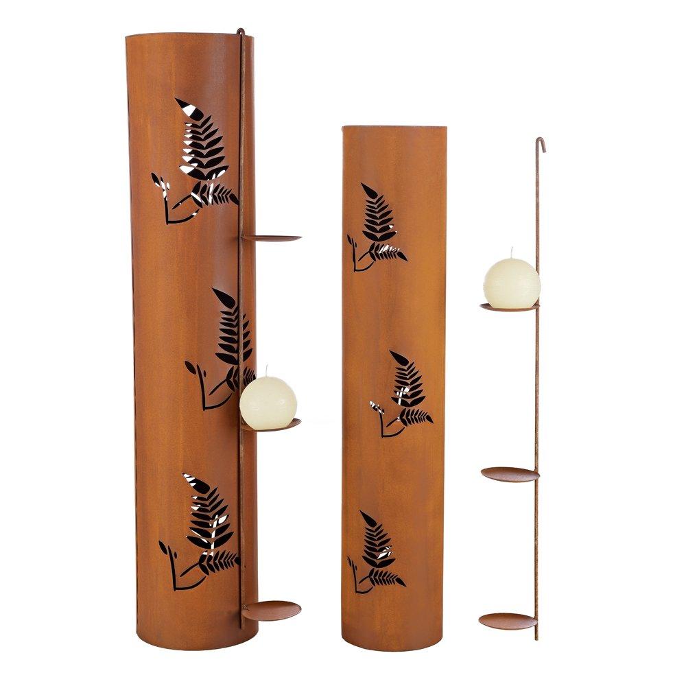 Laterne Rost Inspirierend Gartendeko Mucola 96cm Edelrost Windlichtsäule Kerzenhalter