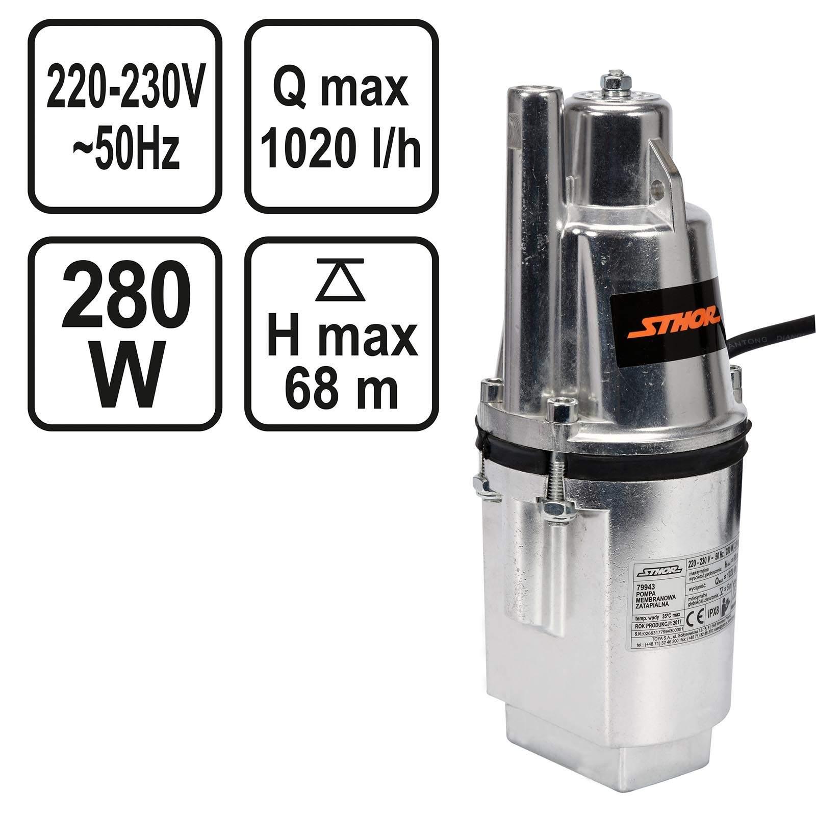 garten pumpe neu sthor membran pumpe 280 watt 1 020 l h of garten pumpe