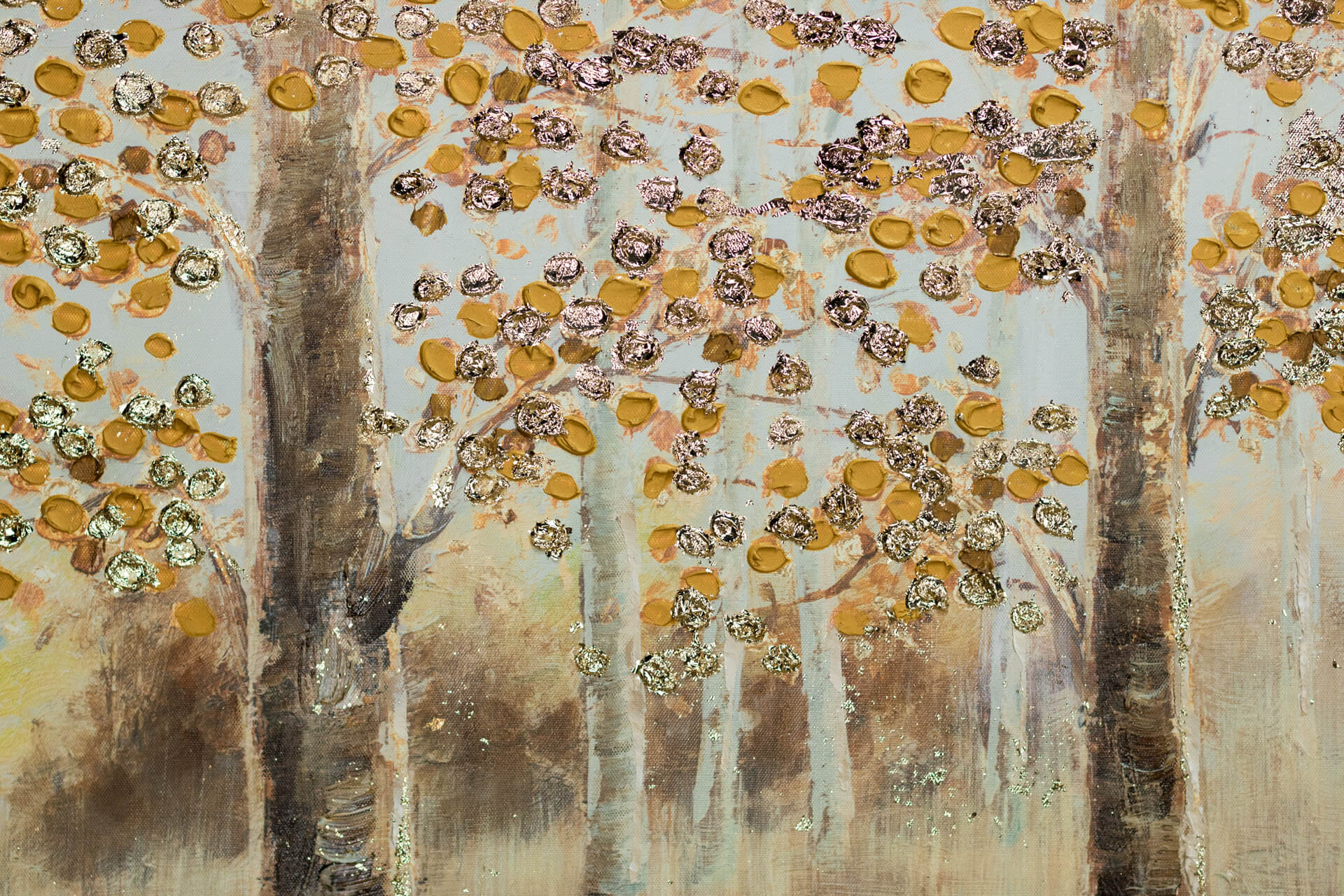 KL wald baeume braun orange acryl gemaelde acryl bilder leinwandbilder moderne kunst 10