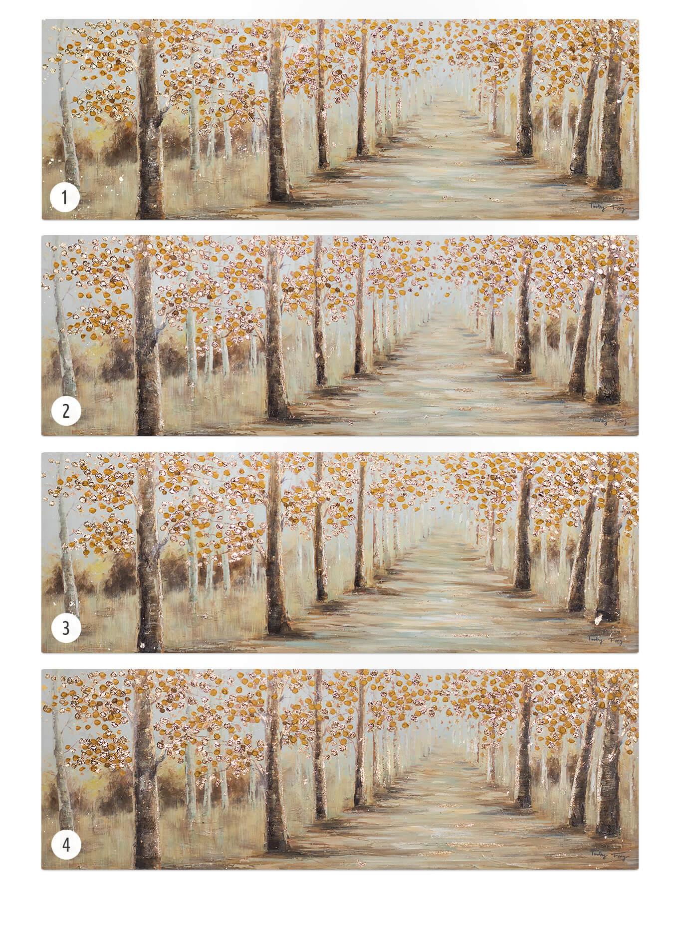 KL wald baeume braun orange acryl gemaelde acryl bilder leinwandbilder moderne kunst 08