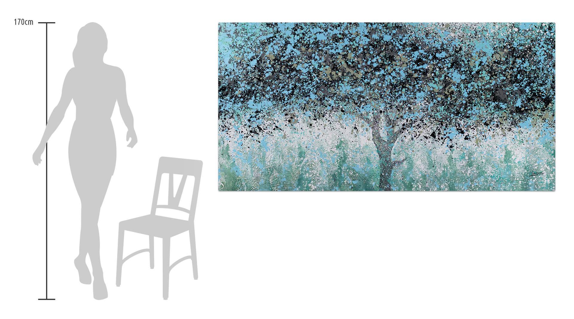 KL baeume abstrakt gruen blau oel gemaelde oel bilder handgemalte unikate moderne kunst 0001 07