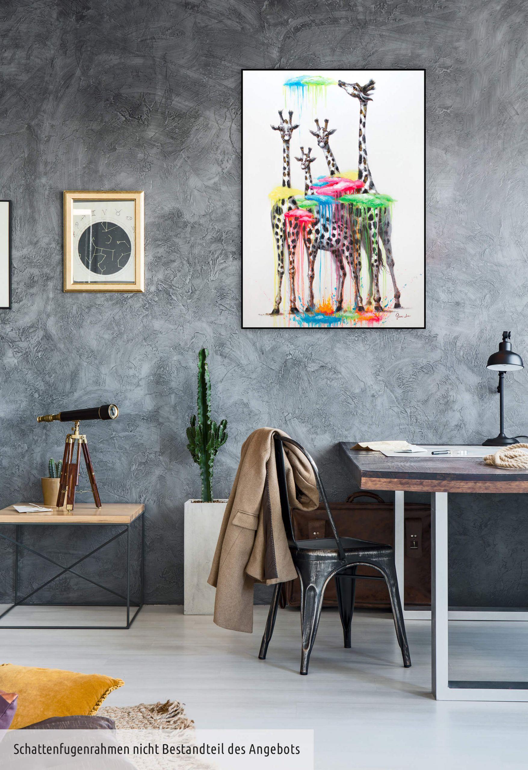 kl girafffen wolken tiere natur modern modern acryl gemaelde oel bild 07